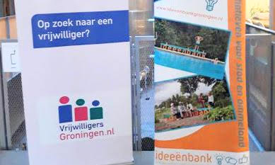 banners Vrijwilligers Groningen en Ideeënbank Groningen
