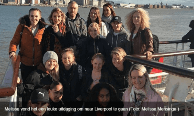 studentenbezoek aan Liverpool