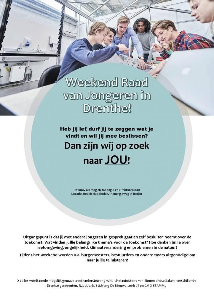 flyer weekend van jongeren Drenthe