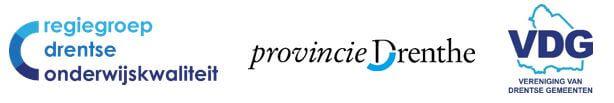 logo's Regiegroep Drentse Onderwijskwaliteit, Provincie Drenthe en VDG
