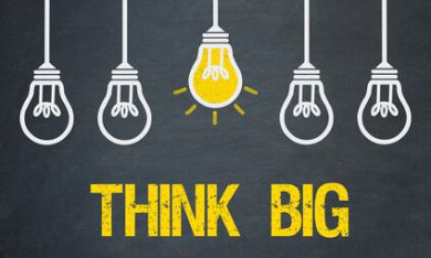 Denk groots