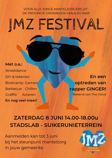 Flyer van het JMZ festival Groningen