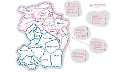 herindelingen Groningen Drenthe