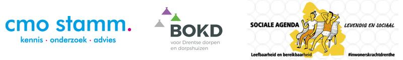 Logo's CMO STAMM, BOKD en Sociale Agenda Drenthe