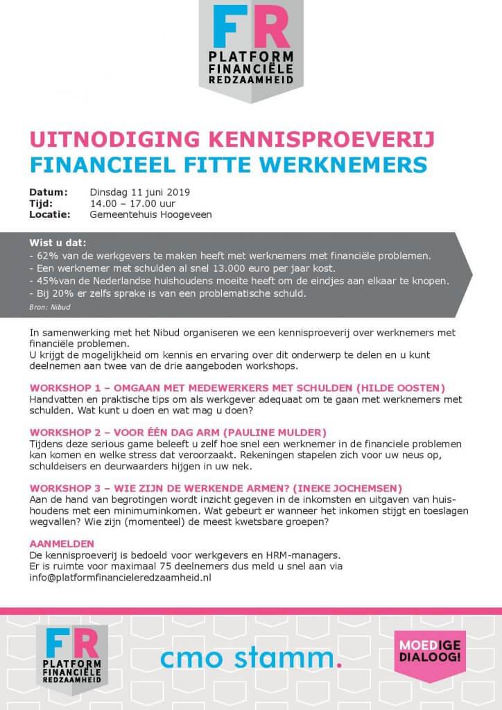 Programma Kennisproeverij 11 juni Financieel fitte werknemers