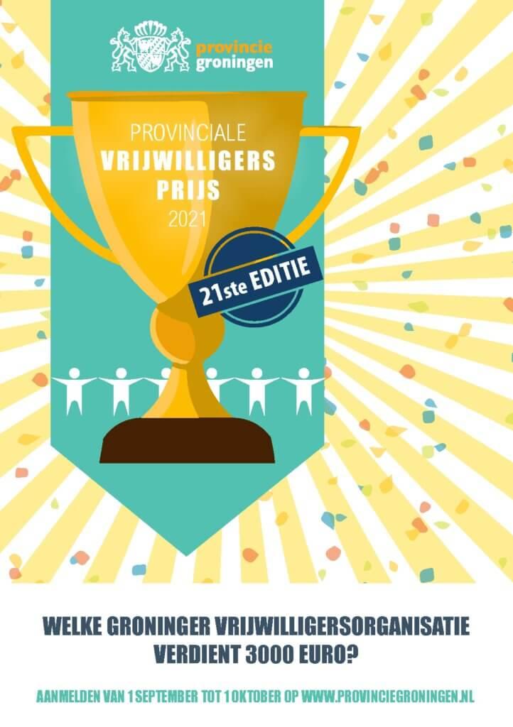 flyer Prov. vrijwilligersprijs Groningen 2021