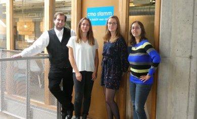 De 4 WEPers voor het kantoor van CMO STAMM