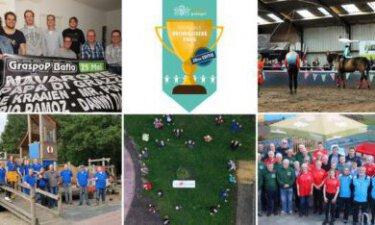 fotos van de 5 winnaars en het logo van de vrijwilligersprijs