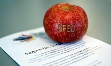 Appel met SFSD logo