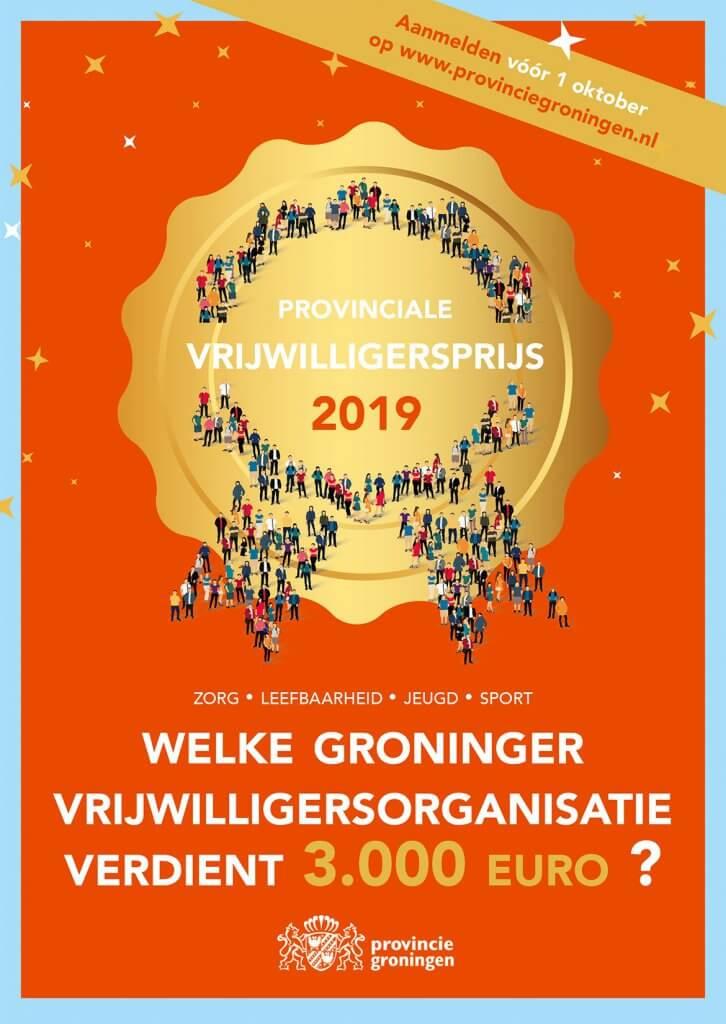 Flyer Provinciale Vrijwilligersprijs Groningen 2019
