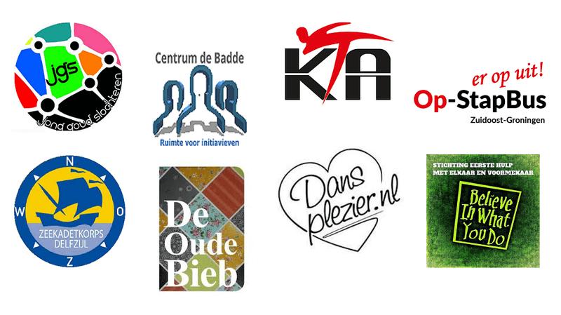 logo's genomineerden provinciale Vrijwilligersprijs Groningen