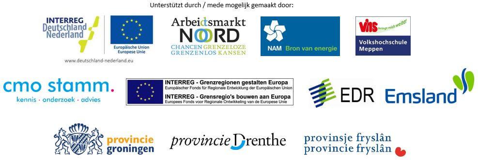 logo's van de partners en opdrachtgevers van het grensoverschrijdend project New Jobportunities