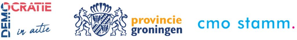 logo Decocratie in Actie, Provincie Groningen en CMO STAMM