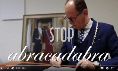 fragment van het filmpje Stop Abracadabra