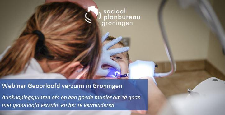 header webinar Geoorloofd verzuim toont een meisje bij de orthodontist